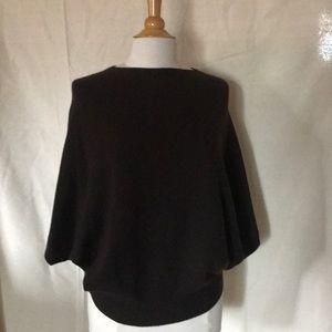 Lanvin wool/cashmere bat sleeve top